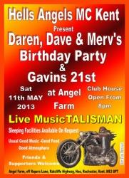 4 ha daren, dave and mervs party 11.05.13