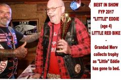 13 BEST IN SHOW - FYP 2017 - LITTLE EDDIE (age 4). LITTLE RED BIKE.