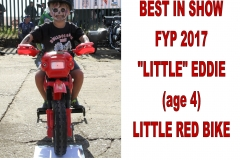 14 BEST IN SHOW - FYP 2017 - LITTLE EDDIE (age 4). LITTLE RED BIKE.