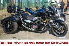 8 BEST TRIKE - FYP 2017 - KIM HINES. YAMAHA VMAX 1200 FULL POWER