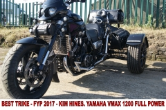 9 BEST TRIKE - FYP 2017 - KIM HINES. YAMAHA VMAX 1200 FULL POWER