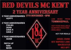 Red Devils 2nd Anniversary 17th nov 2018