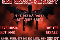 Red Devils MC Kent party June 8th 2019