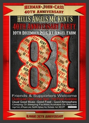 11  HAMC Kents 40th anniversary supporters party 10.12.2016