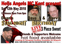 HAMCK Dave and Mervs birthday and Deans stag 12.05.18