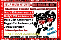 Hells Angels MC Kent Aug 2021 Party