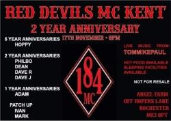 Red Devils 2nd Anniversary 17th nov 2018