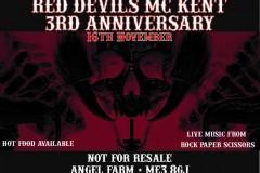 RED DEVILS MC KENTS 3RD ANNIVERSARY 16.11.19